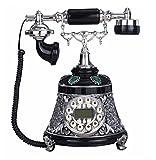 Modern Retro Telefon, neoklassizistische Kunst Sitz/Europäischen Stil/Schwarz und Weiß Kunst/Seil 25 X 23 X 30 Cm Handy