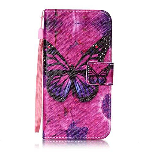 Nancen Huawei G Play Mini/Honor 4C (5 Zoll) Hülle Case Handyhülle Brieftasche Etui Lederhülle Schutzhülle Abdeckung Bookstyle Klappcase mit 2 Kartenslots 1 Wallet Tasche Handgelenk Seil