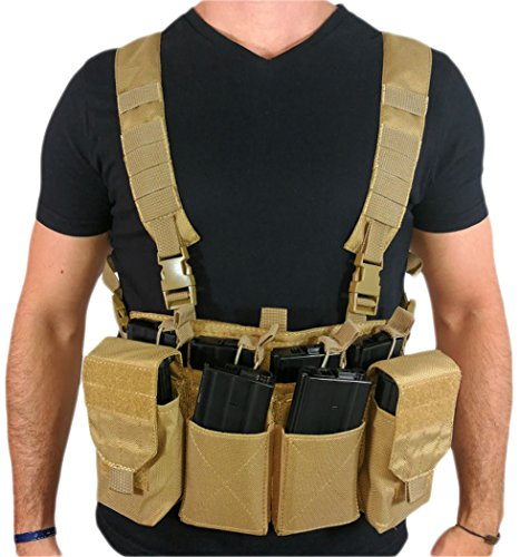Oslotex Chest Rig Utility Chaleco Táctico de Airsoft, Unisex Adulto,