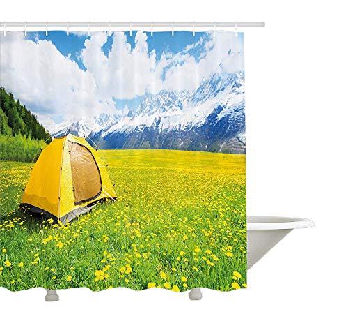 Yeuss natura,tenda da doccia decor classic country style like design grape vineyard fiori con foglie di edera sketch,tessuto arredo bagno set ganci,bianco,72