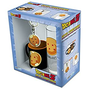 ABYstyle - DRAGON BALL - Caja de regalo - Vaso 29cl + Llavero + Mini taza bola de cristal