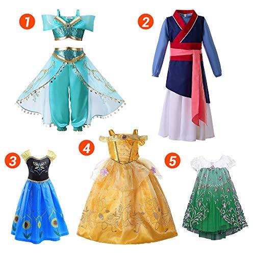 Pettigirl 5 PCS Prinzessin Kostüm Kinder Mädchen Dress Up Kollektion