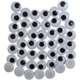 Asian Hobby Crafts Googly Moving Eyes, Black/White (200 Pieces)