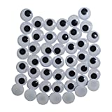 #10: AsianHobbyCrafts Googly Moving Eyes Black & White: 200pcs 25mm