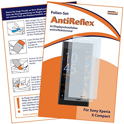 mumbi Schutzfolie kompatibel mit Sony Xperia X Compact Folie matt, Displayschutzfolie (2x)