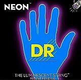 'DR HiDef Blue Neon Lite N Heavy 009', 011', 016', 026', 036', 046Corde per chitarra elettrica/fluorescenti (si illuminano al buio)