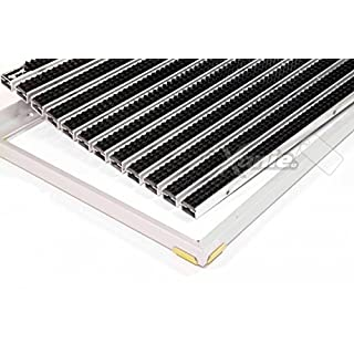 EMCO Eingangsmatte DIPLOMAT ca. 22 mm schwarz mit Cassettenbürste mit Einbaurahmen, Größe:1000 x 500 mm