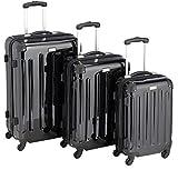 Packenger Reisekoffer Cabana 3er-Set M, L und XL in Schwarz