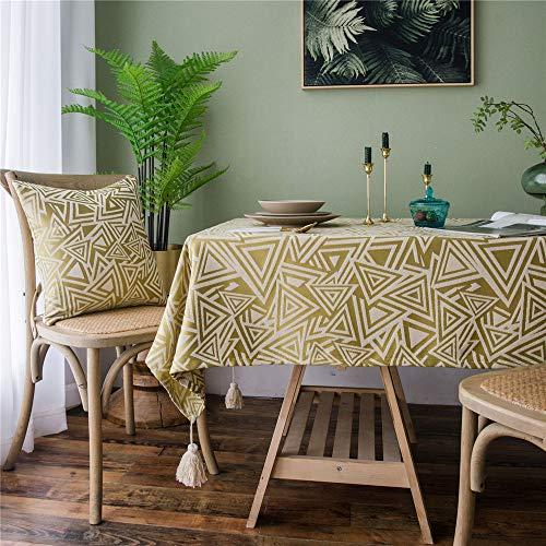 Dujun tovaglia in cotone e lino anti-macchia tovaglia per tavolo rettangolare decorazione domestica della cucina, a2 60 * 60cm