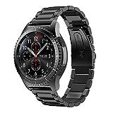 YaYuu Samsung Galaxy Watch 46mm/Gear S3 Frontier/Classic Armband, 22mm Edelstahl Metall Ersatz Verstellbare Uhrenarmbänd Strap Sports Armband für Samsung Gear S3 Frontier/Classic Fitness Smart Watch