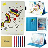 New iPad 2017 Case, iPad Air 2 Case, iPad Air Case, Dluggs Slim Fit PU Leather Folio Smart Stand Case Cover with Auto Sleep/Wake Function for Apple iPad 9.7 2017 Model/ iPad Air 1 2, Star Unicorn