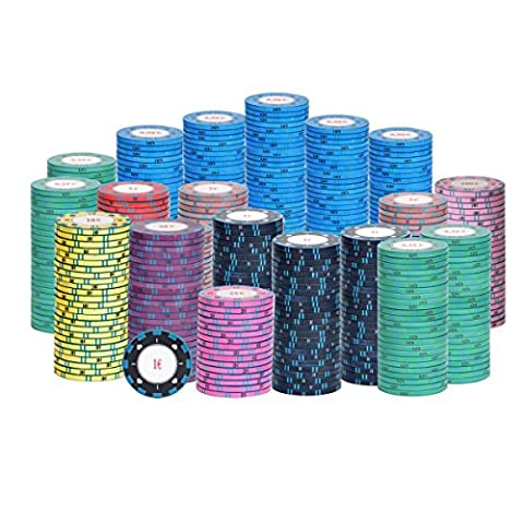 500 Keramikchips Cash Game Ultimate Pokerchips Chips Top Qualität NEU