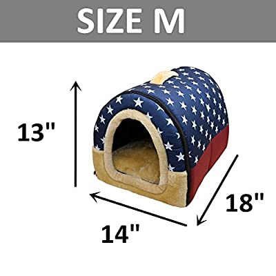 Mixse Cozy 2-in-1 Pet house and Sofa Non-Slip Dog Cat Igloo Beds 3-Size produced by Mixse - quick delivery from UK.