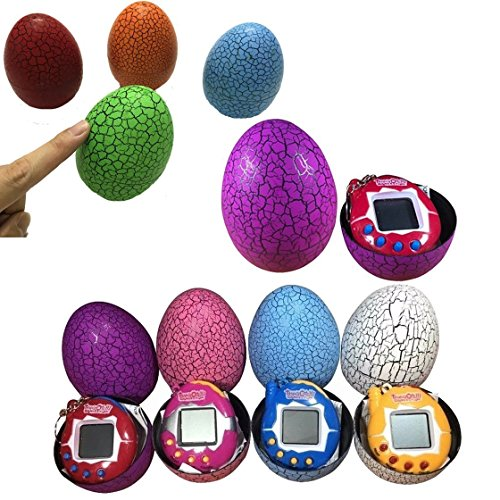 Hangaga 1PCS Nostalgic Cyber Pets Dinosaur Egg Digital Pet Virtual Pet Colore Casuale