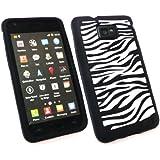 Emartbuy ® Samsung Galaxy S2 Plus I9105 Silicon Case / Cover / Haut Zebra Schwarz Weiß