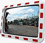 VERKEHRSSPIEGEL 80x60cm Gewölbter-Sicherheitsspiegel Überwachtungsspiegel Beobachtungsspiegel Convex Taffic Mirror