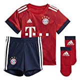 adidas Baby 18/19 FC Bayern Home Babykit Mini-heimausrüstung, FCB True Strong red/White, 74