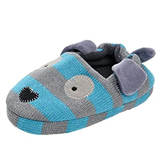 IGEMY Child Shoes Baby Newborn Shoes Soft Infants Crib Sneakers Puppy Cartoon Shoes (UK:6.5/Age:2-3 Year old, Blue)