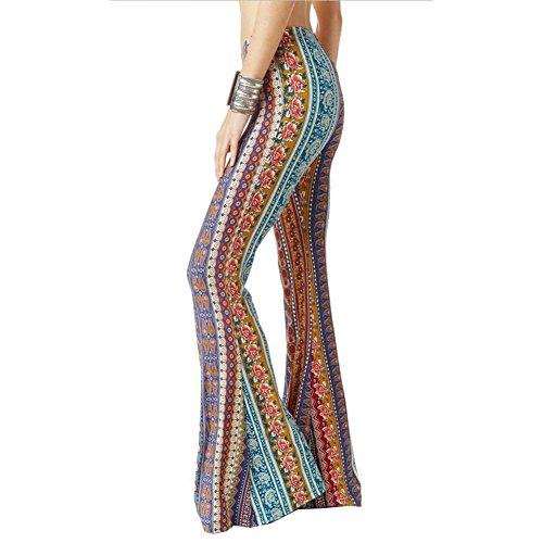 Hibote Pantalones Mujer Pantalones Bootcut cómodos Pantalones Acampan