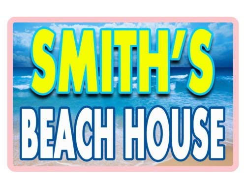 Full House Signs (DOGT Metal tin Sign 8x12 inches Personalized Beach House Signurable Aluminum No Rust Full Color Custom Sign)
