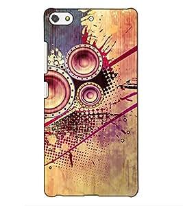 Fuson Designer Back Case Cover for Gionee Elife S7 (Speaker Theme)