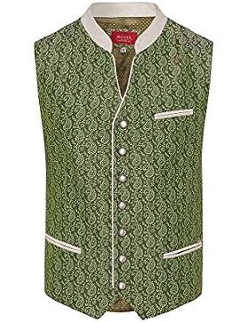 Moser® Herren Trachtenweste hellgrün gemustert Vincenz 004416