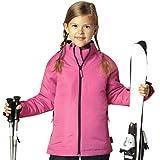 Kinder Skijacke Snowboardjacke Jacke Winterjacke wind- und wasserdicht Mädchen rosa (110/116)