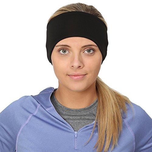 TrailHeads Frauen Power Pferdeschwanz Stirnband - schwarz
