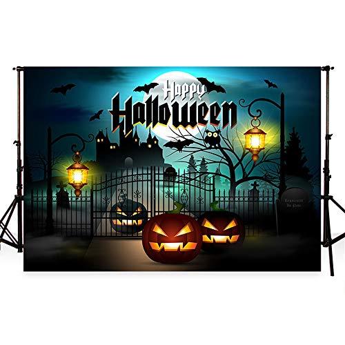 Fotografie halloween background halloween hintergründe Kulissen schwarzen Schloss Fotohintergrund für Studio Fotoshooting (2.2x1.5m) ()