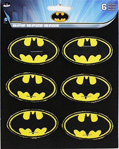 C&D Visionary Aufnäher, Design: DC Comics Batman-Symbol, aus Polyester-Mischgewebe, 5,1 x 2,5cm (Batman-c)