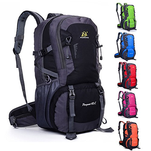 Wasserdichte Outdoor-40L Rucksack Tasche Wandern Camping Bike Travel Bag Day Packs Blue