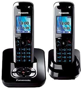 panasonic kx tg8422gb schnurloses dect telefon duo mit elektronik. Black Bedroom Furniture Sets. Home Design Ideas