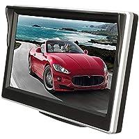 Monitor de Coche de Pantalla Digital a Color TFT LCD de 5 Pulgadas y 800 * 480 con Accesorios para el Carro de Bombeo y Soporte para cámara de visión Trasera de Respaldo