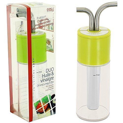 Öl und Essig-Duo Würze in der Küche Salatteller, grün