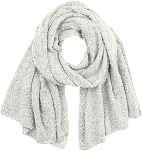 Vila CLOTHES Damen VITOBI Knit Scarf-NOOS Schal, Grau (Light Grey Melange Light Grey Melange), One Size (Herstellergröße: ONESZ)