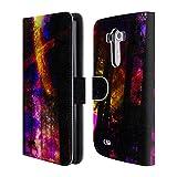 Head Case Designs Offizielle Haroulita Saturn-Blitz Raum Brieftasche Handyhülle aus Leder für LG G3 / D855 / D850 / D851