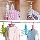 Plenzo 8 in 1 Multi-Function Collapsible Folding Clothes Magic 360 Degrees Can Rotate Space Saving Clothes Hanger Rack…