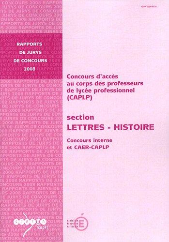 CAPLP section Lettres-Histoire : Concours interne et CAER-CAPLP