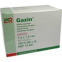 GAZIN Mullkomp.7,5x7,5 cm steril 8fach 50X2 St preisvergleich bei billige-tabletten.eu