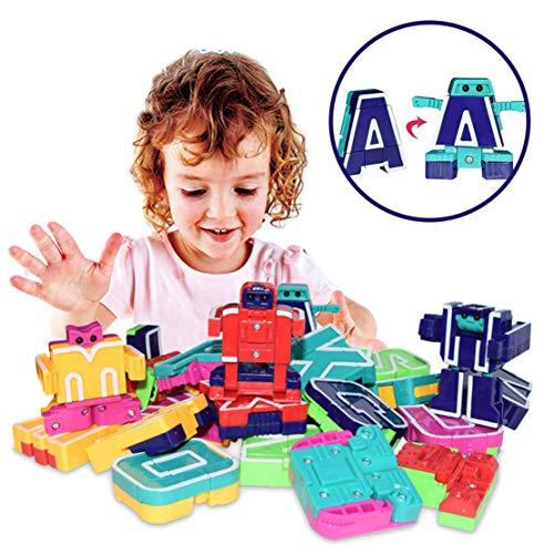 Happy Event 26pcs englischer Brief Roboter Deformation Alphabet Transformations Roboter Puzzle