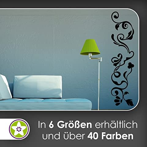 Filigrana Fiore Ornament adesivo da parete in 6misure–adesivo da parete adesivo da parete, 92_kupfer, 120 x 29 cm