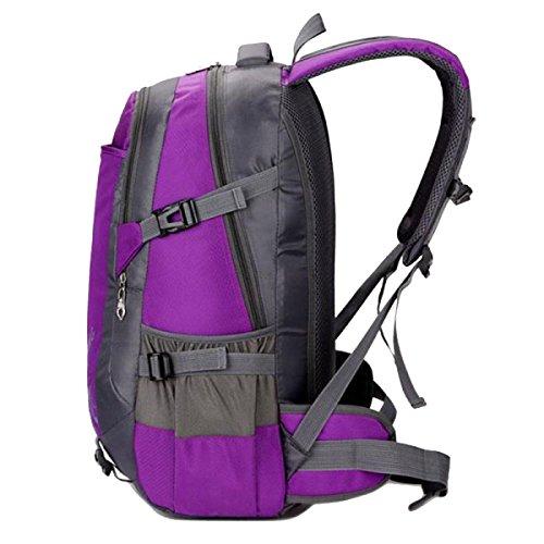 Yy.f Outdoor-Kletter Tasche Rucksack Männliche Und Weibliche Schultern Fuß Atmungsaktiv Leicht Wasserdicht Reiten Tasche Rucksack Eine Große Kapazität. Multicolor Red
