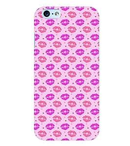 Citydreamz Red Pink Lipstick Design Hard Polycarbonate Designer Back Case Cover For Apple Iphone 6 Plus/6S Plus