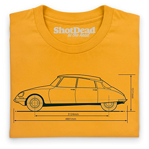 DS19 Classic Car T-Shirt, Damen Gelb