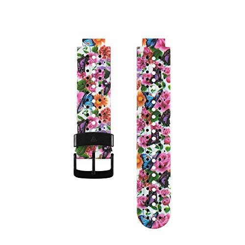 Fit-power de remplacement Smart Bracelet de montre bracelet accessoire pour Garmin Forerunner 220/230/235/620/630, taille unique, Flower11