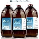 SilverCleanse Colloidal Silver 45ppm Triple Pack (3x 500ml Glass Bottles & T/E Cap)