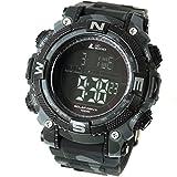 [LAD WEATHER] Potente reloj digital solar Deporte Militar Reloj de hombre con tiempos de vuelta y...