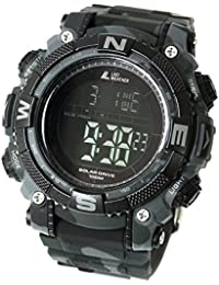 [LAD WEATHER] Reloj digital batería solar superpotente Militar 100 metros resistente al agua LAP SPLIT Alarma…