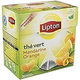 Lipton thé vert mandarine orange x20 Envoi Rapide Et Soignée ( Prix Par Unité )