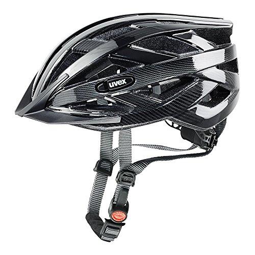 Fahrradhelm Uvex i-vo C, schwarz-Dark Silver, 56-60